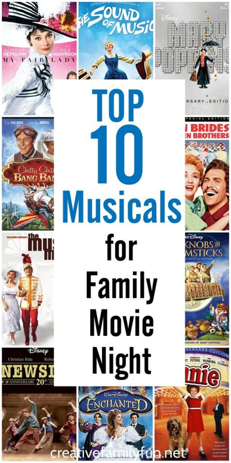 top 10 musicals film the guardian top 10 musicals for family movie night creative family fun