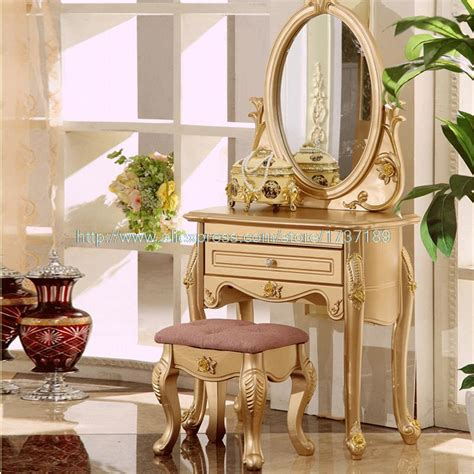 french champagne gold vanity simple lines  elegant