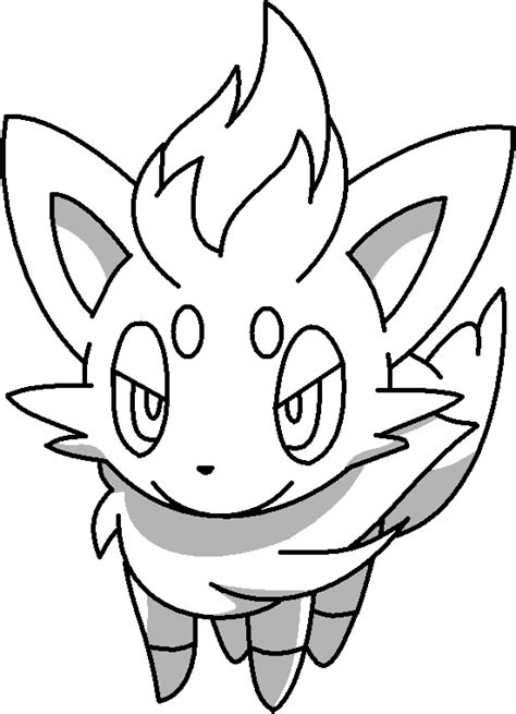 pokemon coloring pages of zorua zorua outline by mothergarchomp622 on deviantart