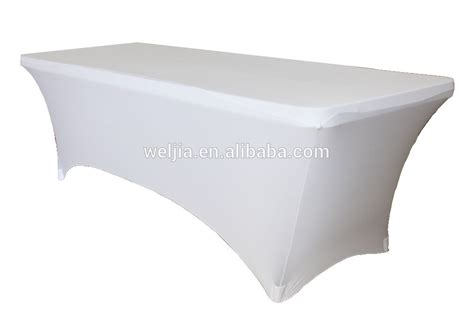 6ft rectangular stretch tablecloth white for folding