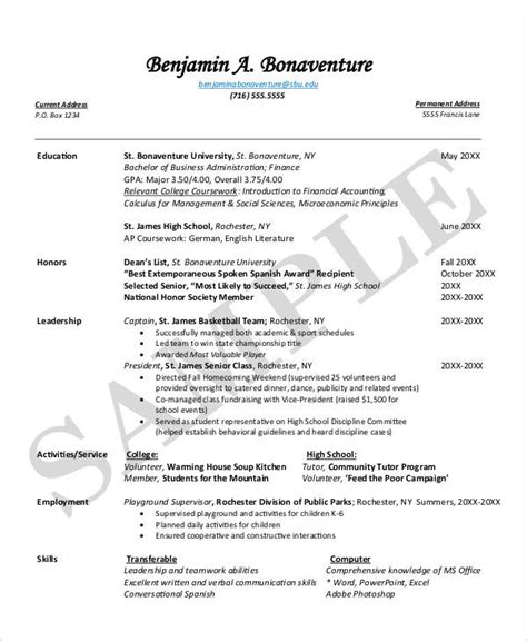 14 resume templates pdf doc free premium