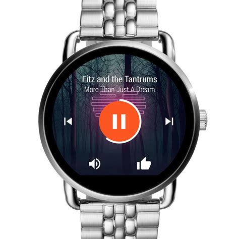 Tempered Glass Smartwatch Fossil Q Marshal buy fossil q founder analog digital multi colour
