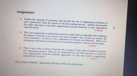 solved assignment  explain  concepts  economics  cheggcom