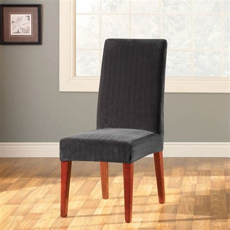 slipcover for dining chair sure fit stretch pinstripe dining chair slipcover ebay
