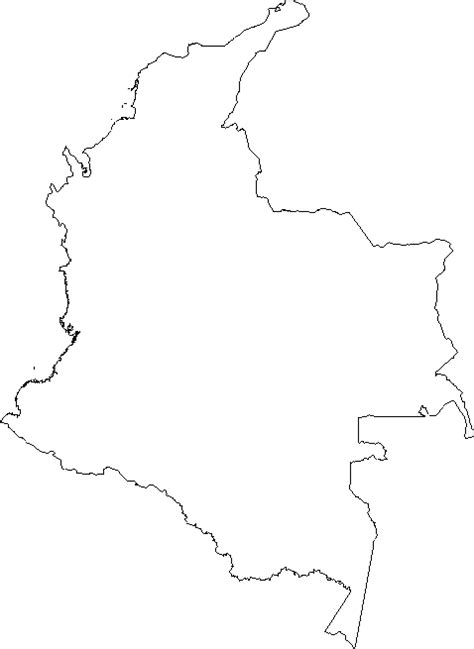 geography colombia outline maps