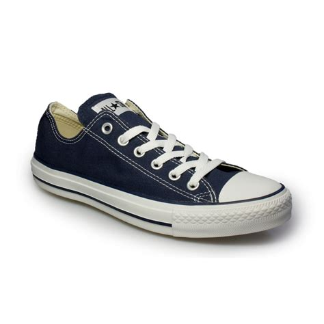 all shoes converse all navy blue canvas trainers sneakers shoes