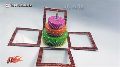 explosion box birthday cake tutorial diy birthday cake explosion box tutorial jk arts 1237