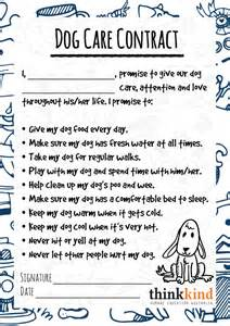 Dog care contract for kids thinkkind 19 november 2014 dog