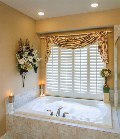 Ideas For Bathroom Window Curtains | curtain ideas bathroom window curtains with attached valance