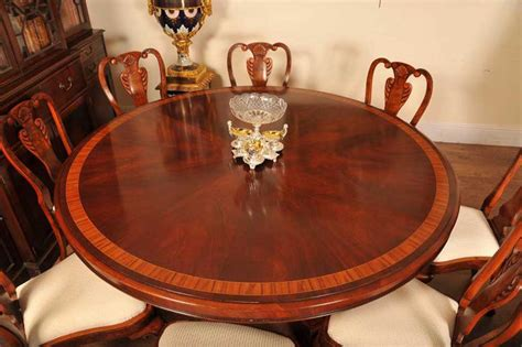 6ft round dining table 6ft flame mahogany regency dining table round