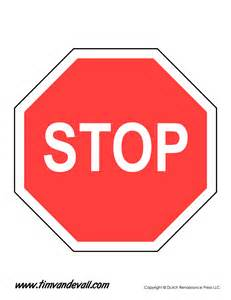 Stop Sign Template Free by Stop Sign Template Tim De Vall