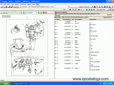 L 6190 Clutch massey ferguson europe spare parts catalog