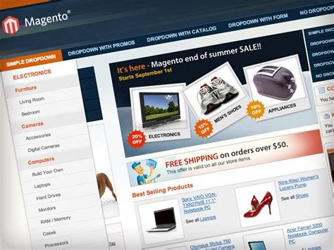 magento design themes default pronav themes customisation magento extensions