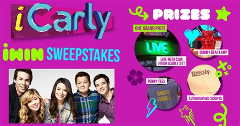 teennick icarly iwin sweepstakes secret codes included - I Win Sweepstakes Icarly