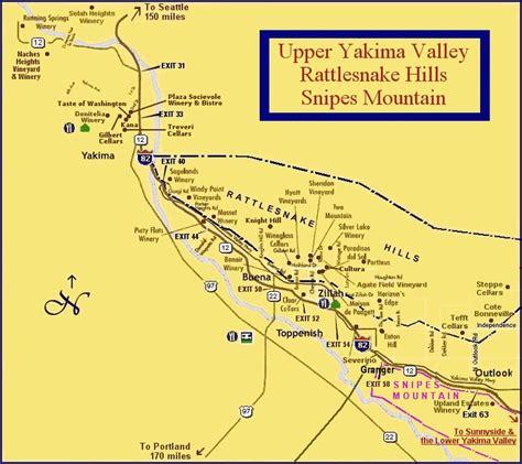 map usa yakima yakima valley rattlesnake snipes mountain