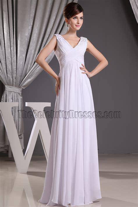 Promo Promo Termurah Dress Gucci V discount white chiffon v neck prom gown evening dresses informal wedding dress thecelebritydresses