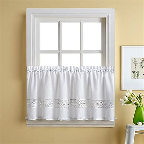 curtains for 36 inch window buy kendra 36 inch window curtain tier pair from bed bath