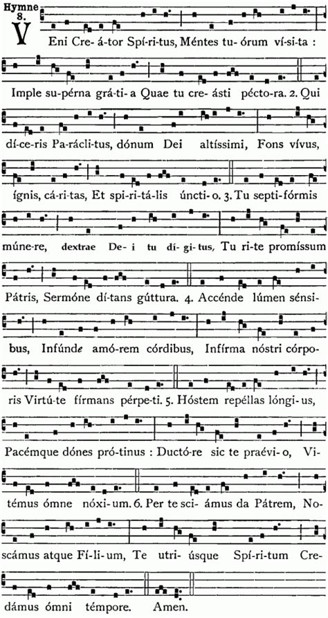 veni sancte spiritus testo hymn veni creator spiritus appreciation workshop