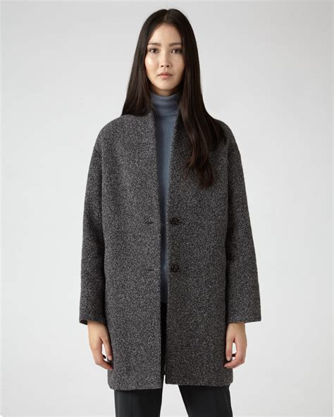 knit coat boucle knit coat jigsaw