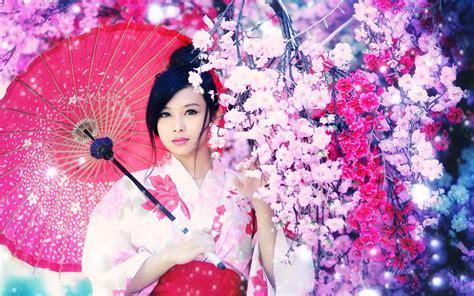 imagenes japonesas hd fondo de pantalla chica asiatica flores hd