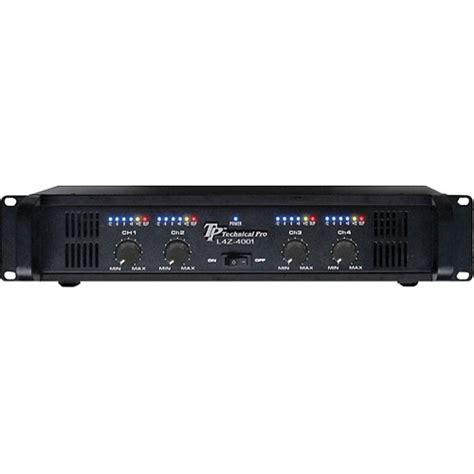 Power Lifier 4 Channel Merk Merino technical pro l4z4002 4 channel power lifier l4z4002 b h