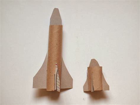 How To Make A Paper Spaceship That Flies - cardboard space shuttle craft template included pink