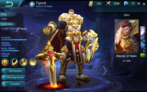 pasangan mobile legend initiating god tigreal guide by c mobile