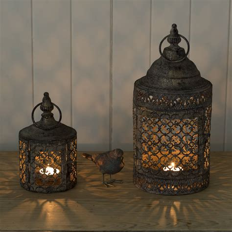 moroccan style lattice candle lantern by the flower studio