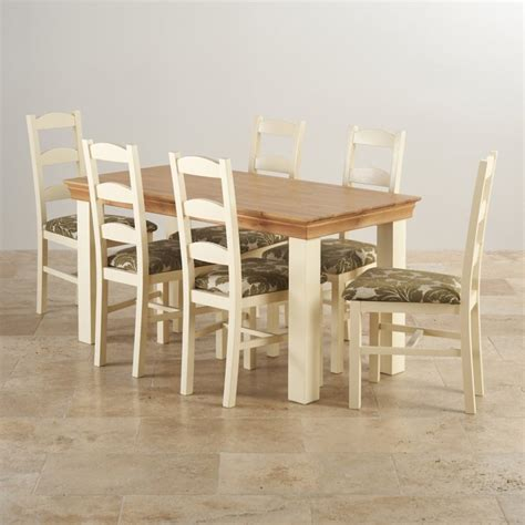 Painted Oak Dining Table And Chairs Country Cottage Dining Set In Painted Oak 5ft Table 6 Chairs