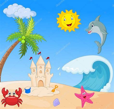 imagenes animadas verano dibujo animado de la playa de verano archivo im 225 genes