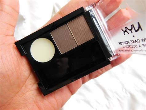 Nyx Cake Powder nyx cosmetics eyebrow cake powder brown brown