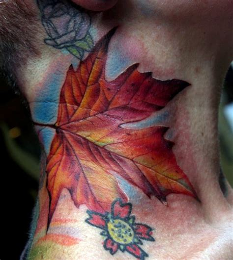 fall leaves tattoo leaf tattoos
