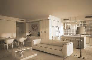 Interior Design Ideas For Living Room And Kitchen Design Interior 3d Living Room Kitchen Dining Room Modeling