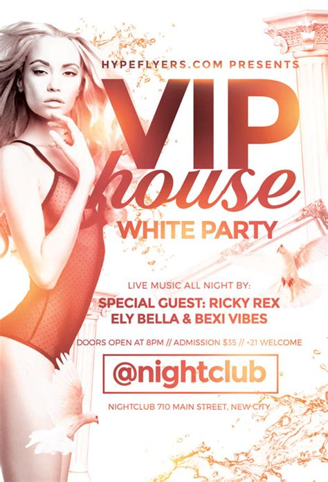 Download The White Party Flyer Template For Photoshop White Flyer Template