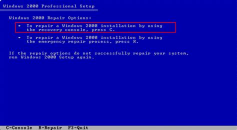 recovery console recovering windows xp using the recovery console