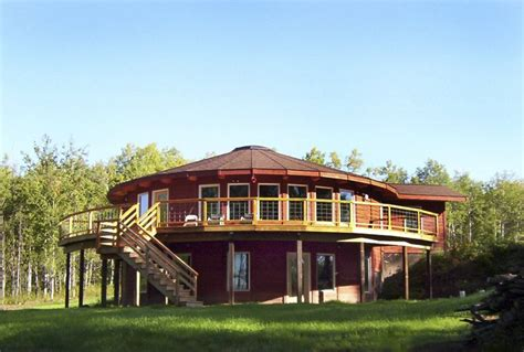 2 story yurt style home with deck yurt