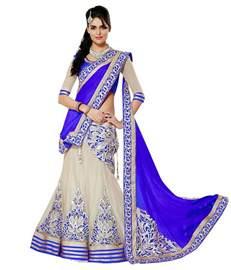 snapdeal sarees indianefashion blue net saree buy indianefashion blue