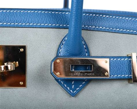 Accessories De Mademoiselle The Inspired By Hermes Birkin Bag by Limited Hermes Birkin Bag 35cm Grizzly Blue De Galice