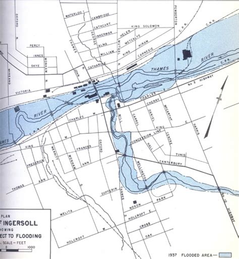 map of the thames river in ontario 1937 flood maps utrca inspiring a healthy environment