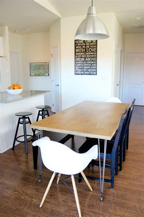 hairpin leg dining table plywood hair pin leg dining table