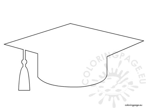 graduation hat template graduation cap template coloring page