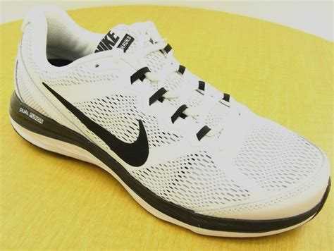 nike dual fusion run 3 mens running shoes nike dual fusion run 3 white black mens athletic shoe