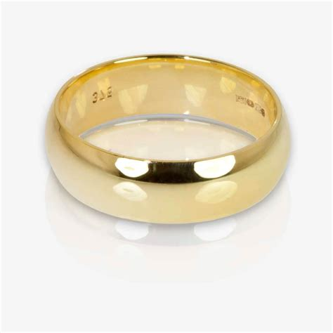 Gold Rings by 9ct Gold Heavyweight Domed Band Ring