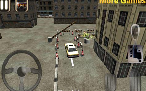 taxi driver 3d cab parking 1mobile