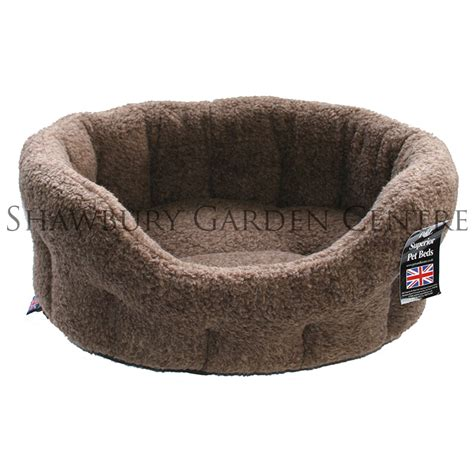 fleece dog bed p l oval fleece softee dog bed 6 brown fleck