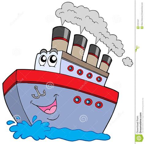 dessin animé bateau dessin anim 233 de bateau photographie stock libre de droits
