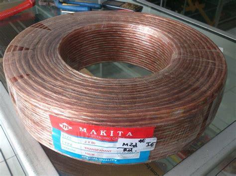 Kabel Speaker Transparan Isi 2x80 jual beli kabel cable audio makita 2x80 2 x 80