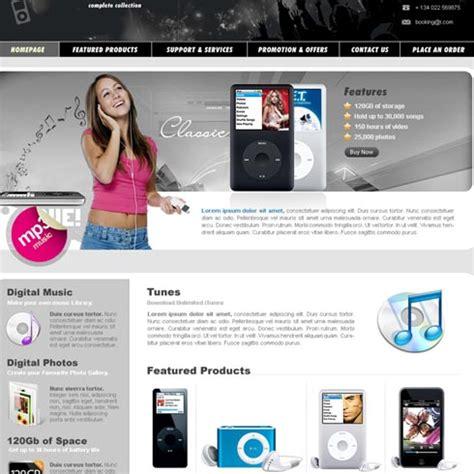 templates for electronics website electronics web template 8 stylishtemplate com