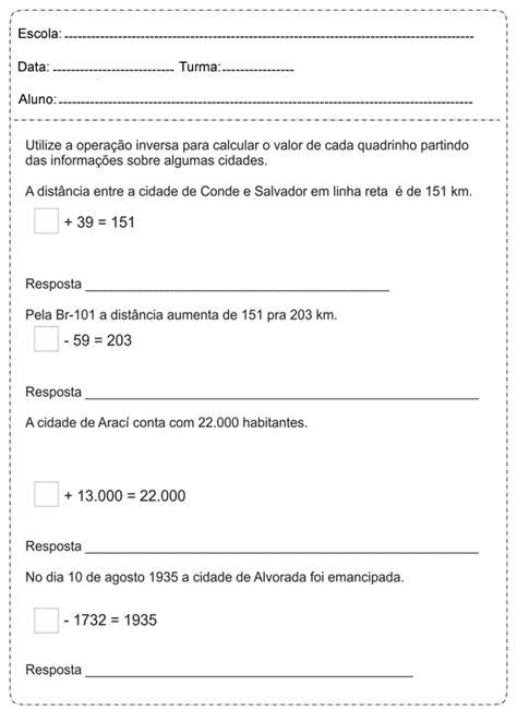 Fichas de trabalho de Matematica para o 5º ano - 3