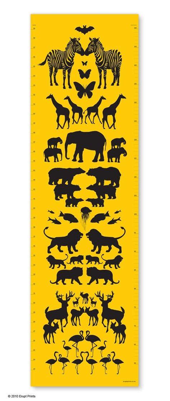 printable animal height chart animal height chart by erupt prints kids pinterest